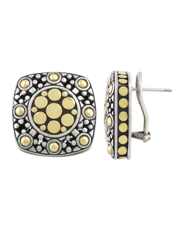 John Hardy Jaisalmer Dot Square Post Earrings