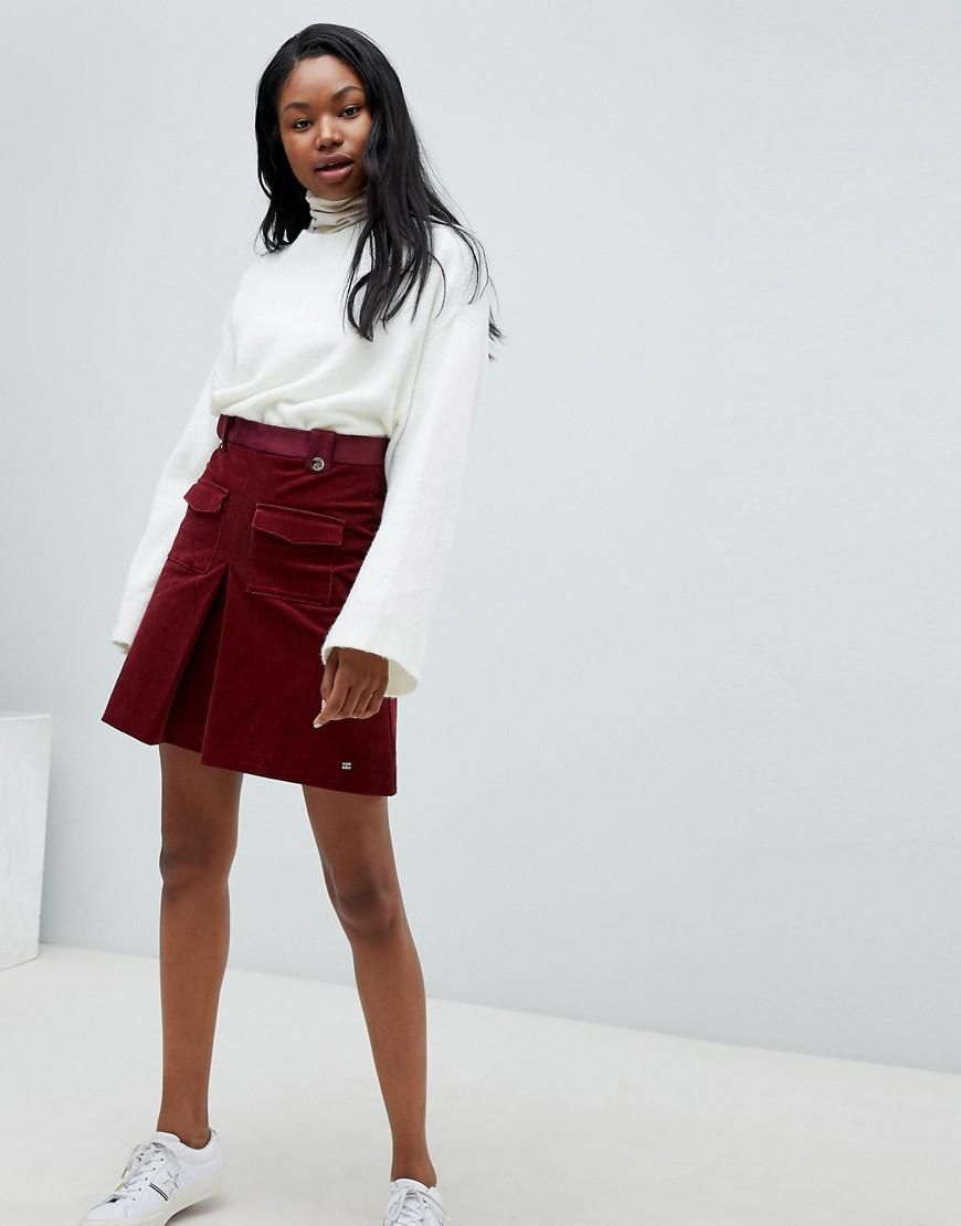 Tommy Hilfiger Cord Skirt - Red