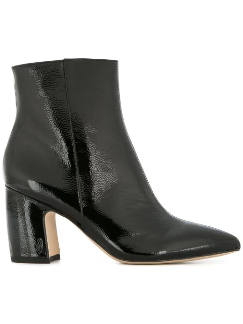 Sam Edelman Block Heel Ankle Boots - Black