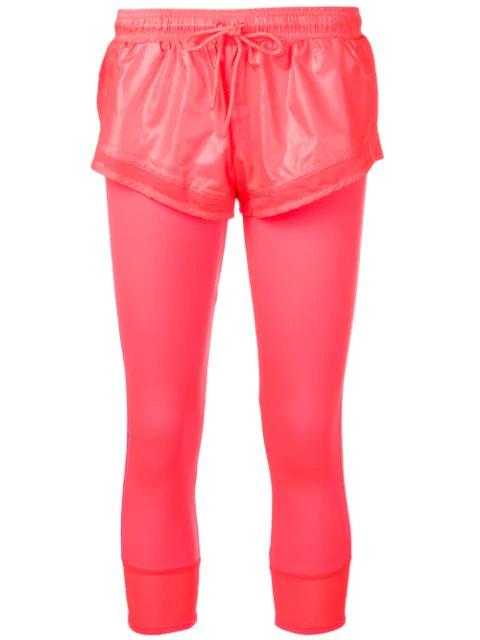 Adidas By Stella Mccartney Layered Shorts Tights - Pink