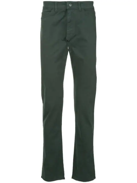 Gieves & Hawkes Straight-leg Trousers In Grey