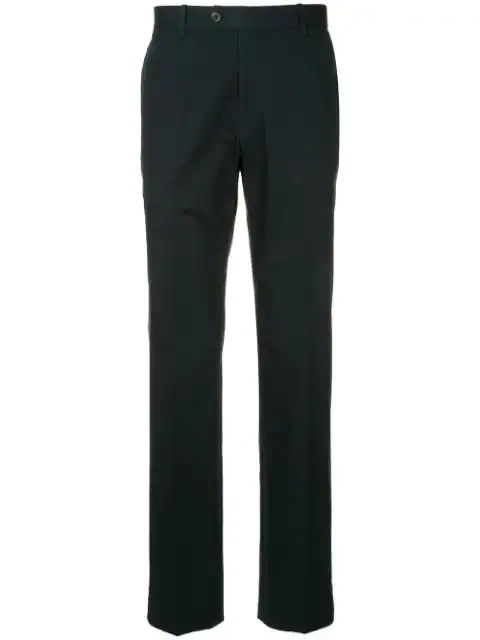 Gieves & Hawkes Straight-leg Trousers In Black