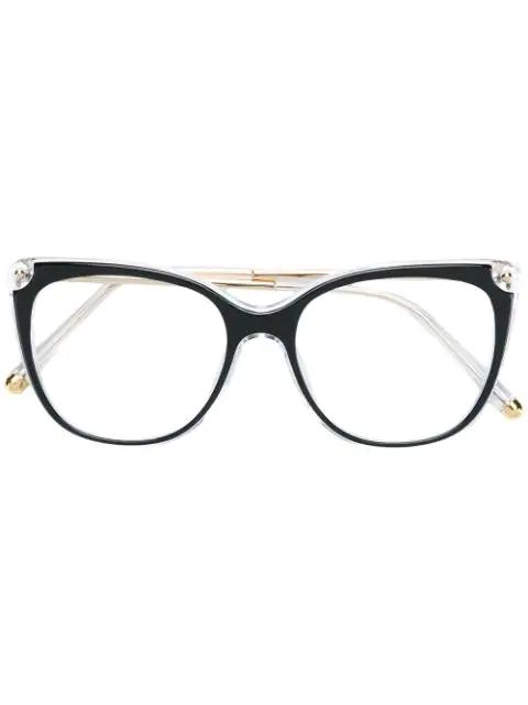 Dolce & Gabbana Boxy Framed Glasses In Black