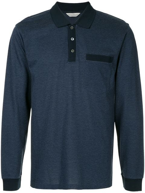 Gieves & Hawkes Longsleeved Polo Shirt In 38
