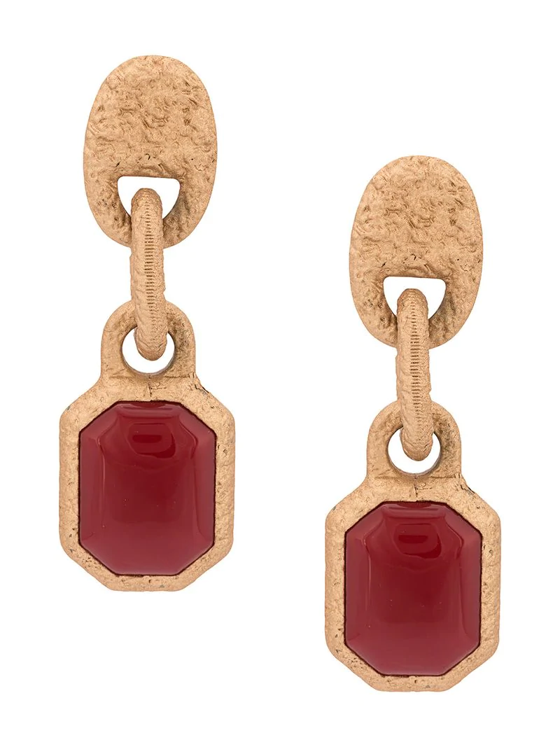 Marni Chunky Drop Earrings - Metallic