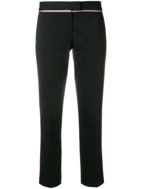 Ps By Paul Smith Cigarette Cropped Trousers In Black