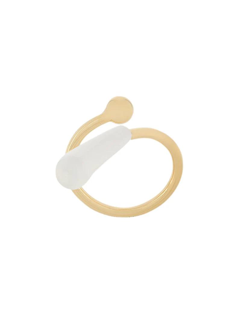 Marni Enamel Detail Twist Ring - Metallic