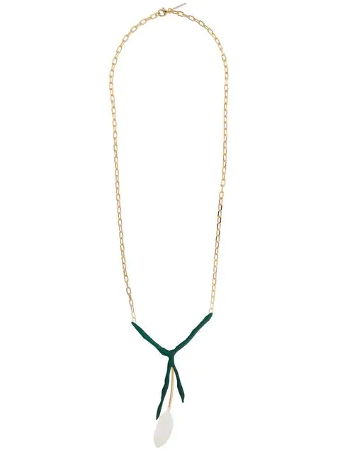 Marni Abstract Pendant Necklace In Metallic