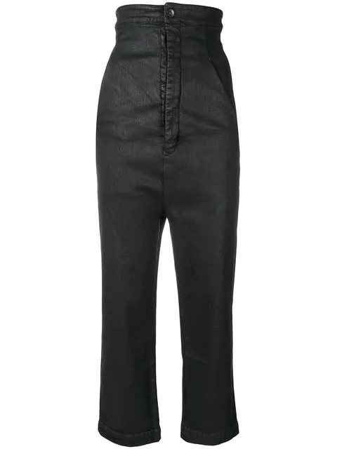 Rick Owens Drkshdw Super High Waisted Trousers In Black