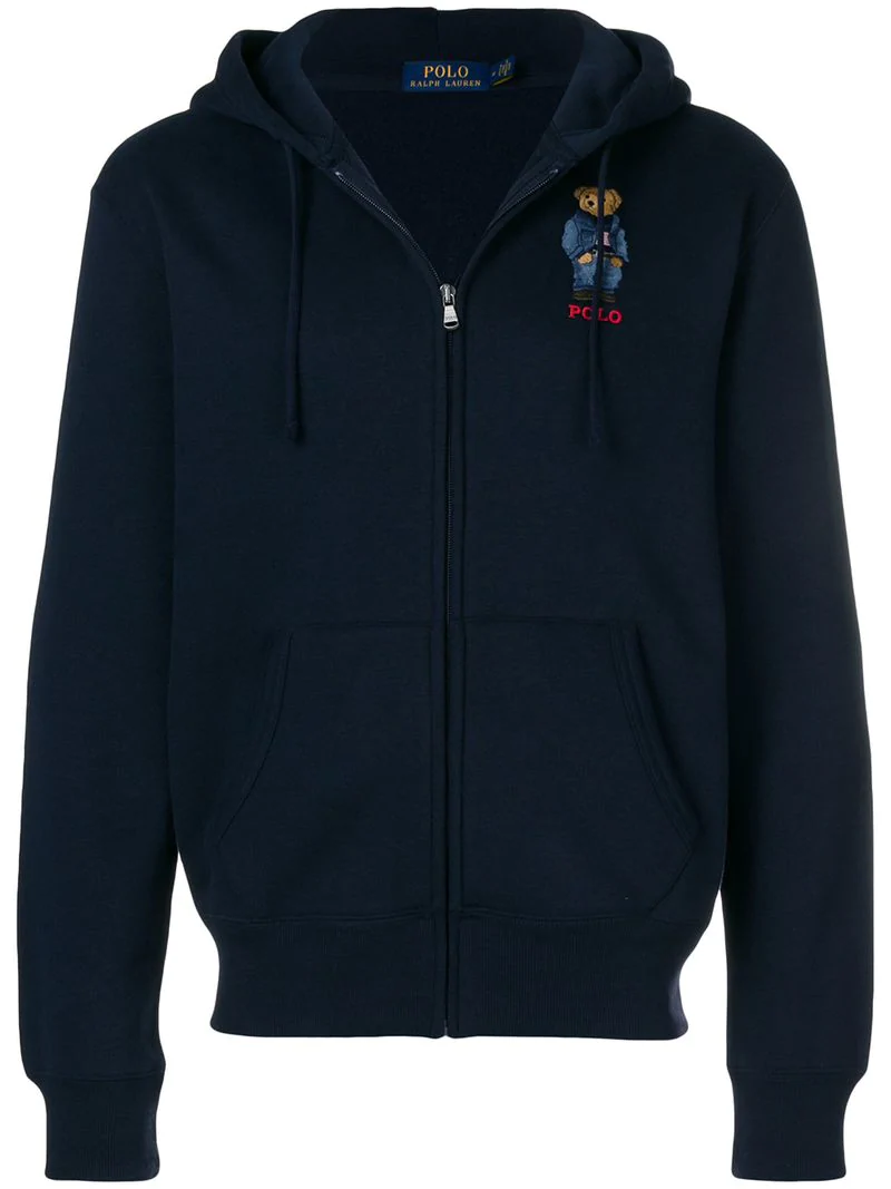 Polo Ralph Lauren Embroidered Hoodie In Blue