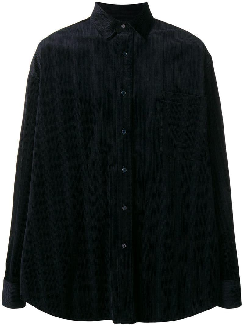 Martine Rose Relaxed Striped Shirt In Blue