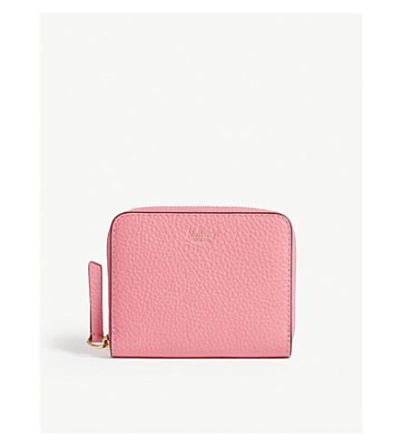 Mulberry 皮革 钱包 In Fluro Pink