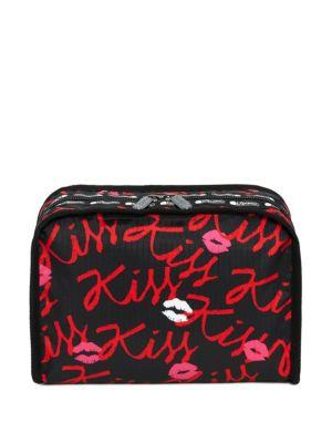 Lesportsac Alber Elbaz X  Extra-large Ivy Cosmetic Bag In Black Red