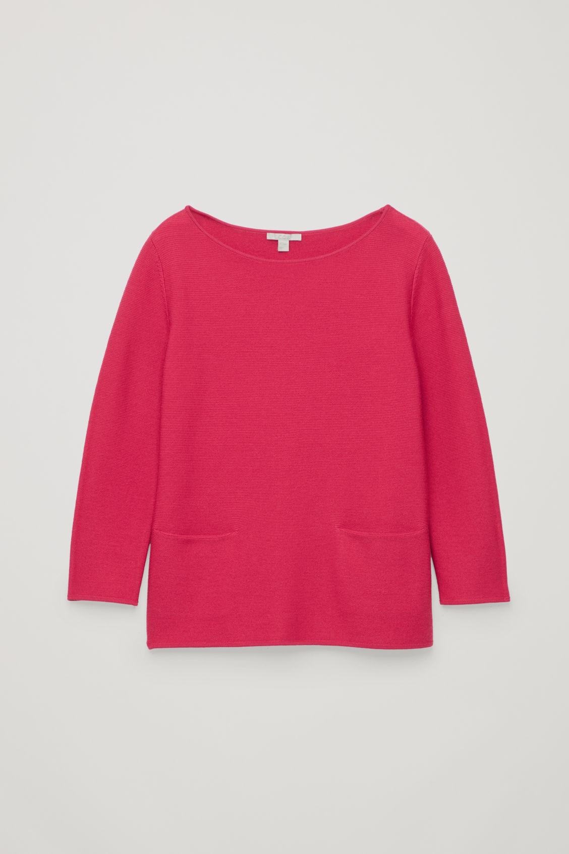 Cos A-line Knit Jumper In Pink