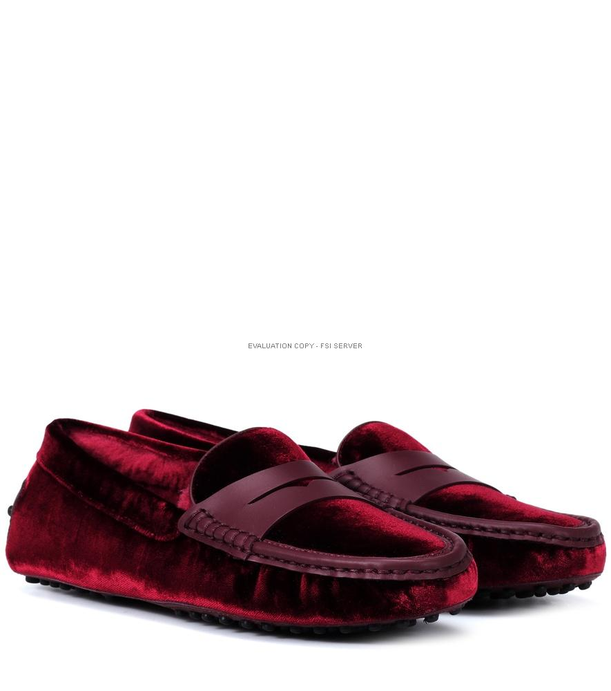 Tod's Exclusive To Mytheresa - Gommino Velvet Loafers In Red