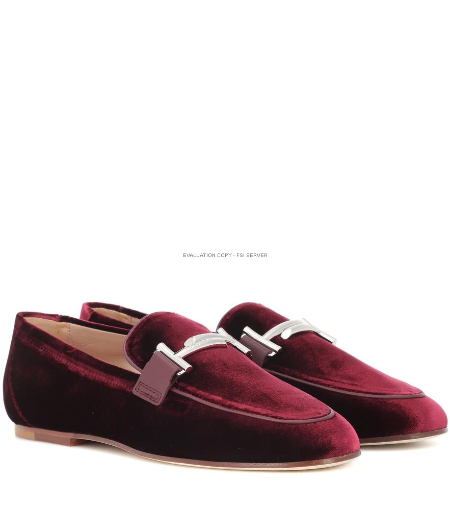 Tod's Exclusive To Mytheresa - Double T Velvet Loafers In Red