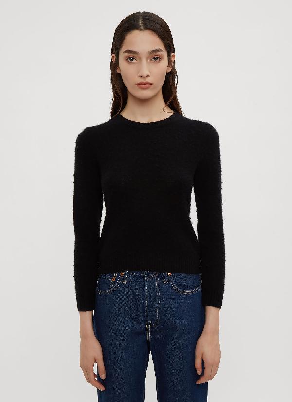 Acne Studios Classic Crew Neck Knit Sweater In Black