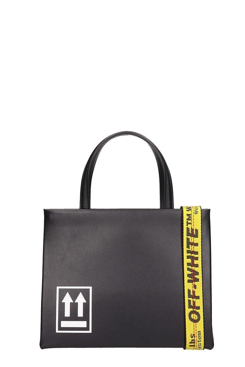 Off-white Mini Leather Box Bag In Black