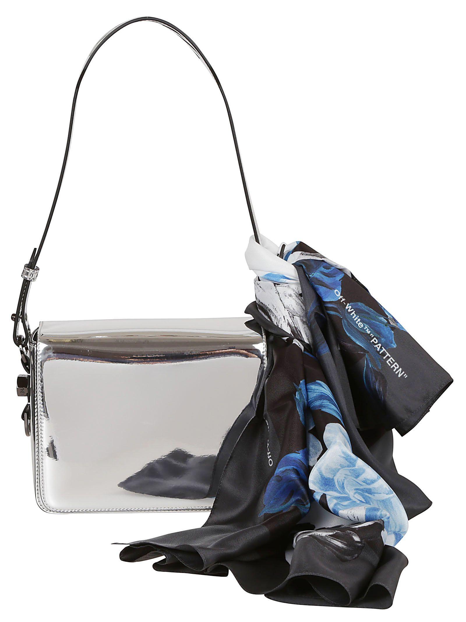 Off-white Mirror Shoulder Bag In Silver No Color