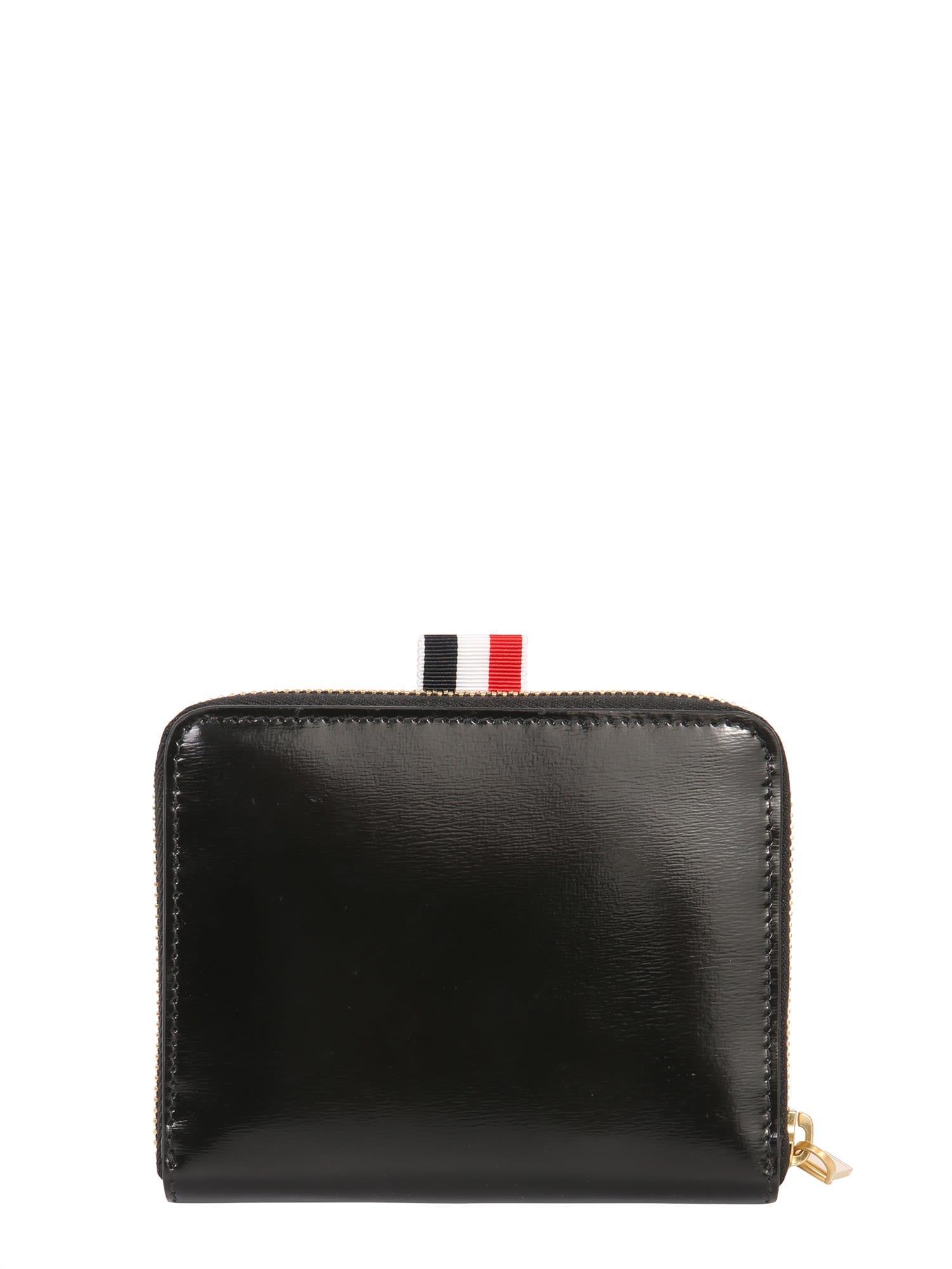 Thom Browne Zip Around Wallet In Nero