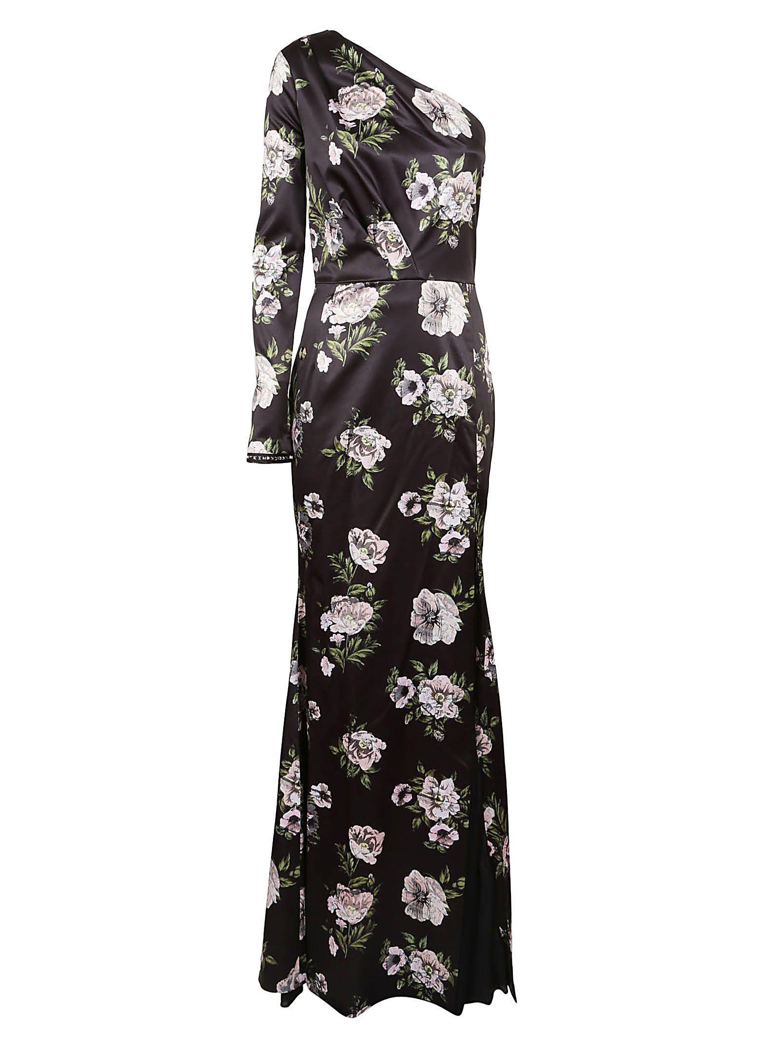 a1517021031 Philipp Plein Floral Evening Dress In Black Rose   ModeSens