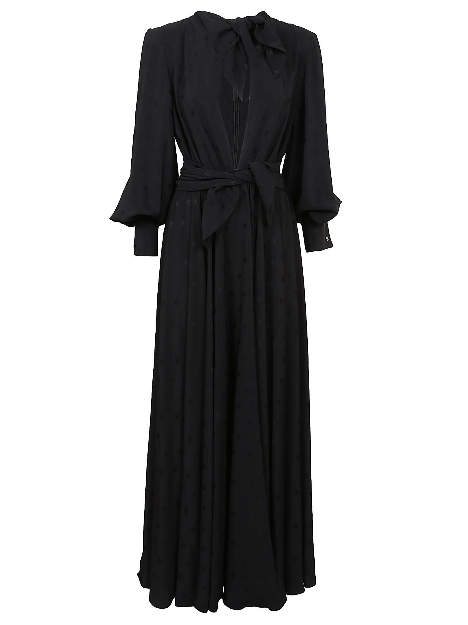 Msgm Classic Flared Dress In Nero