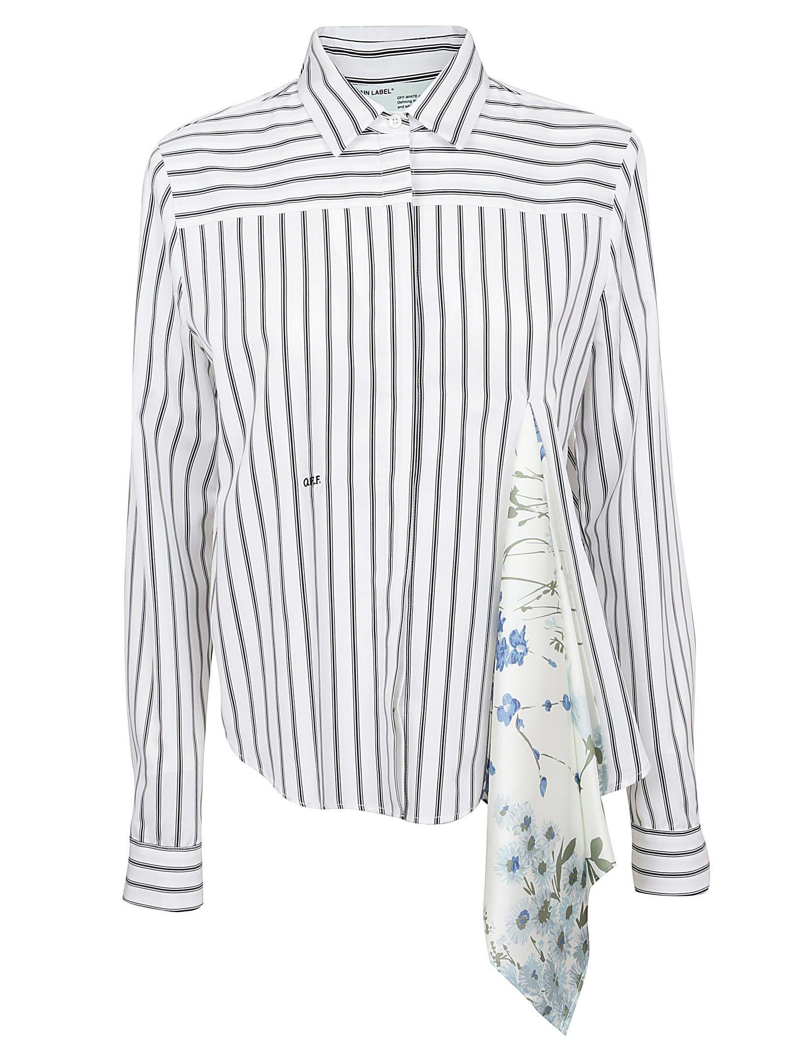 Off-white Scarf Detail Shirt In Stripe