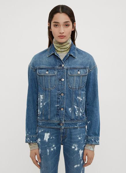 Acne Studios Painted Vintage Denim Jacket In Blue