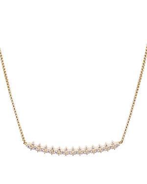 Nadri Aura Pave Curve Necklace, 16 In Gold