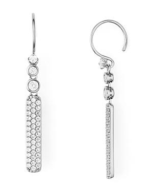 Nadri Aura Pave Drop Earrings In Rhodium