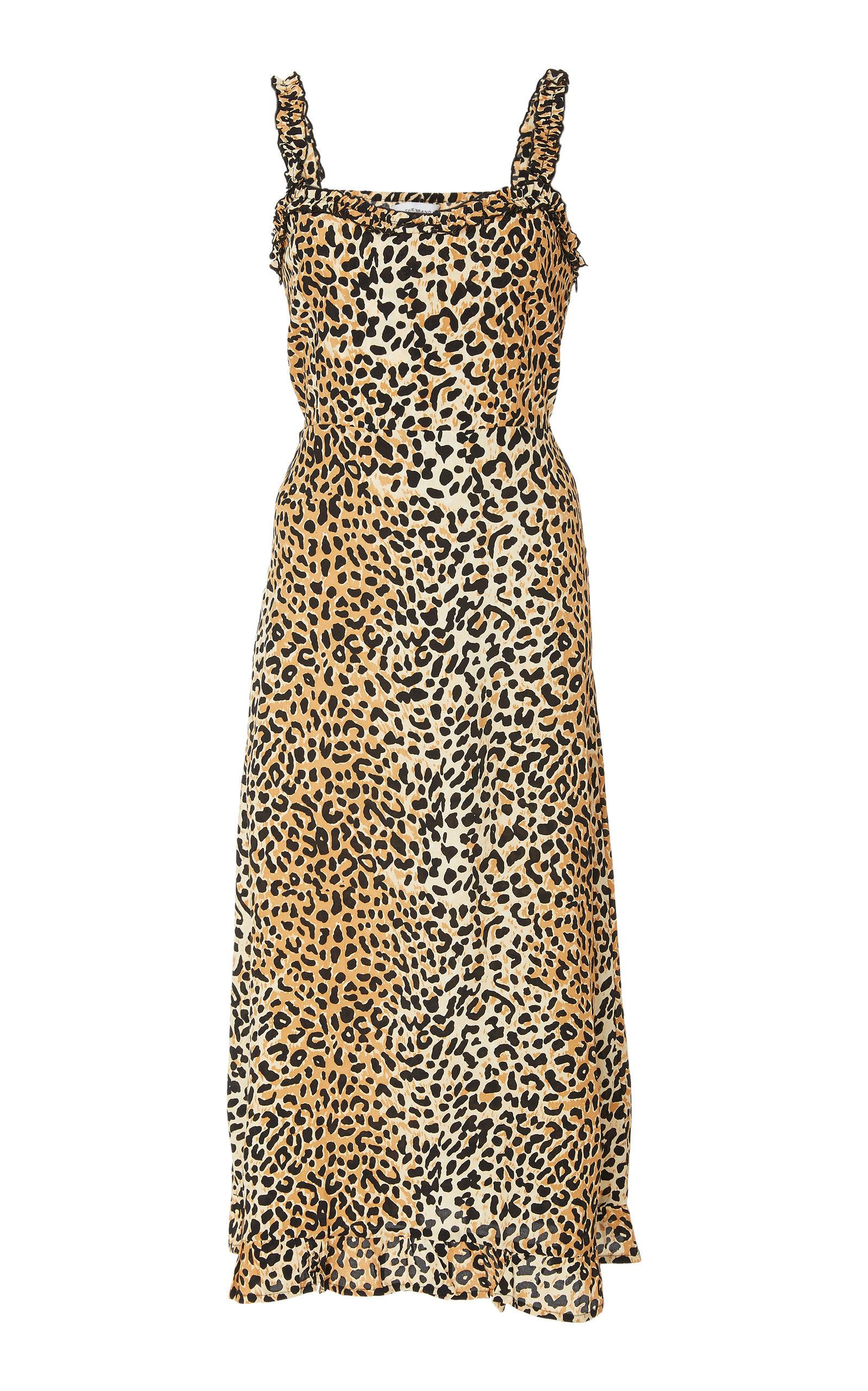 Faithfull Noemie Sleeveless Midi Dress In Animal