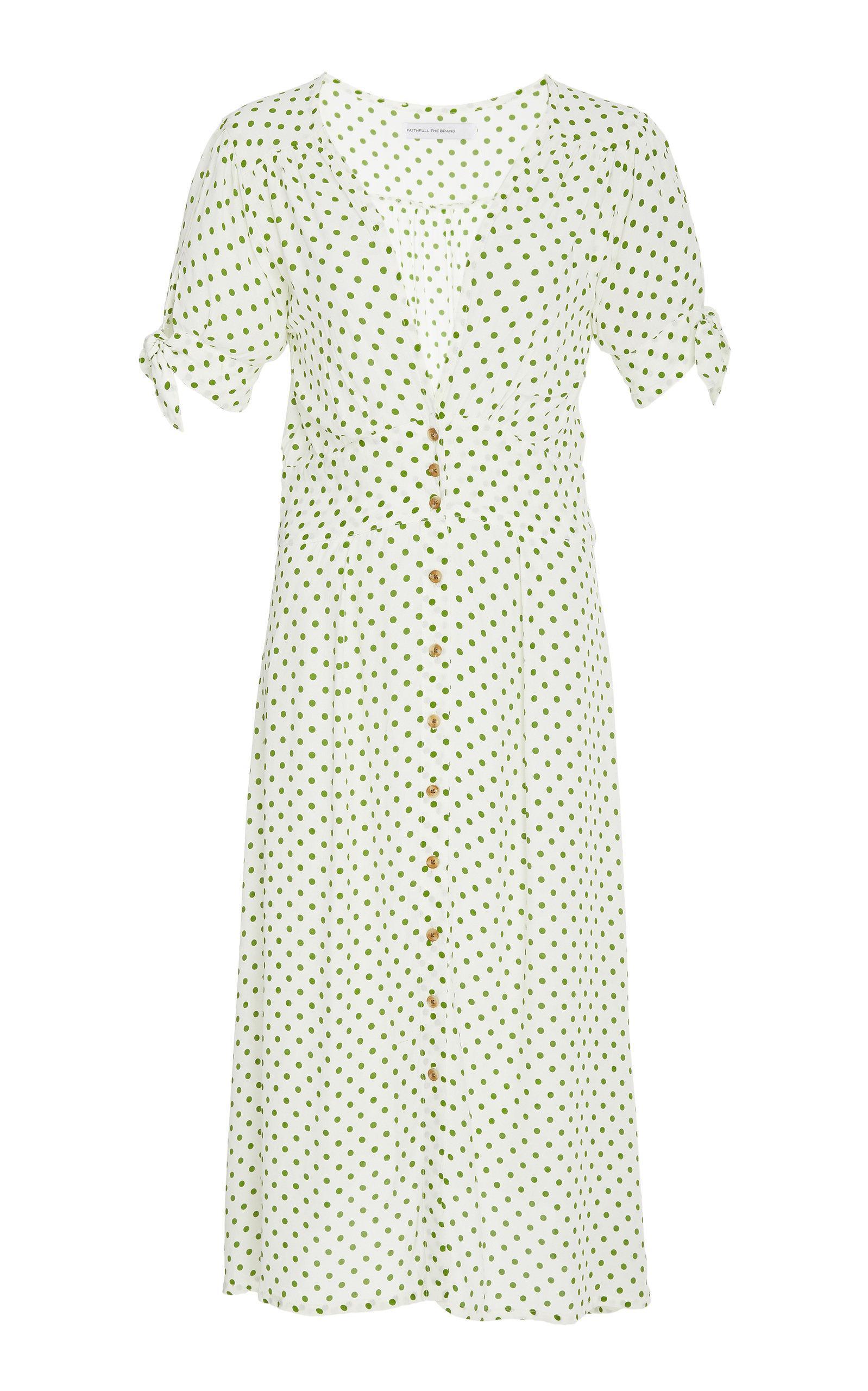 Faithfull Billie Short Sleeve Midi Dress In Print