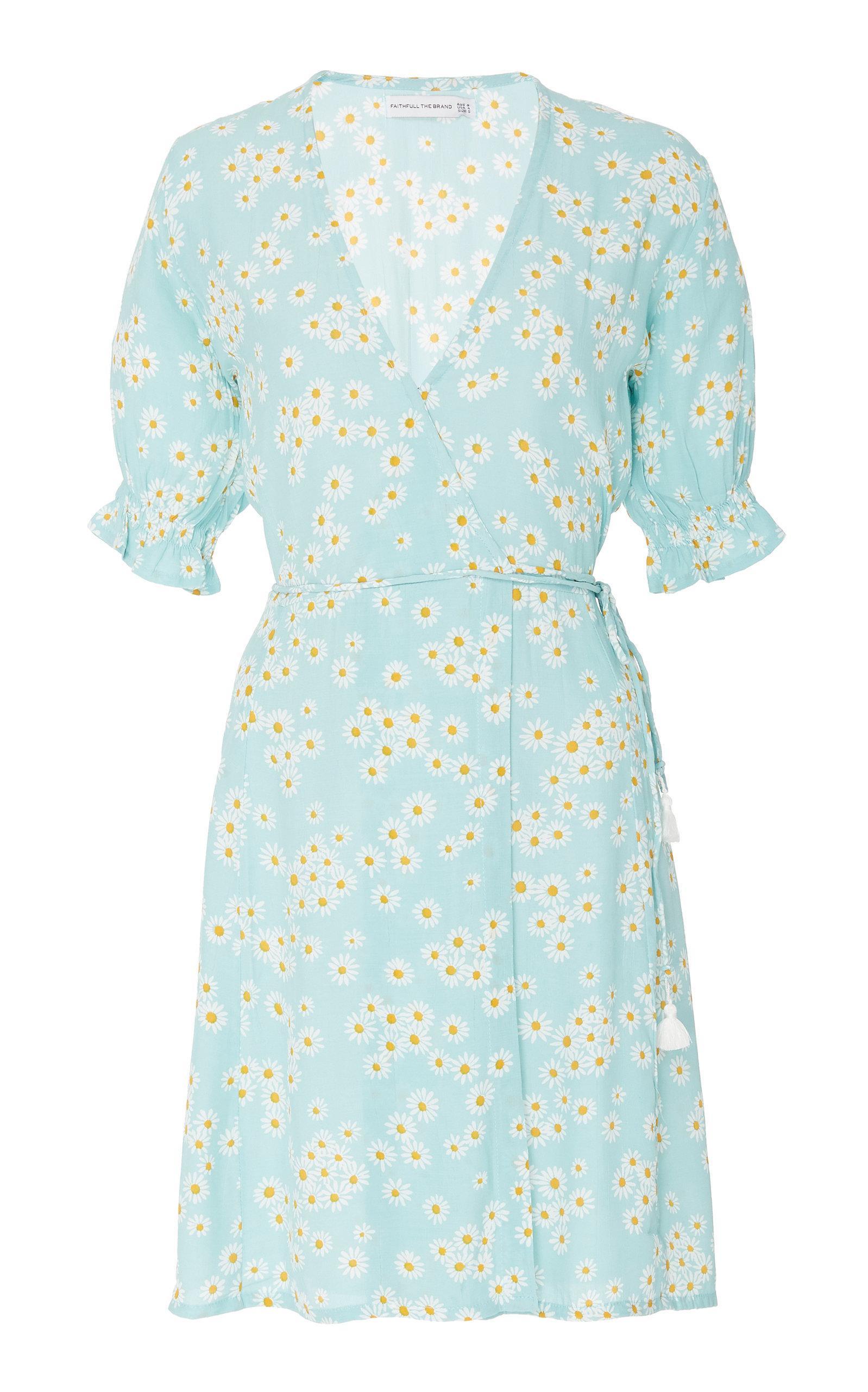 Faithfull Mira Floral Mini Dress In Blue