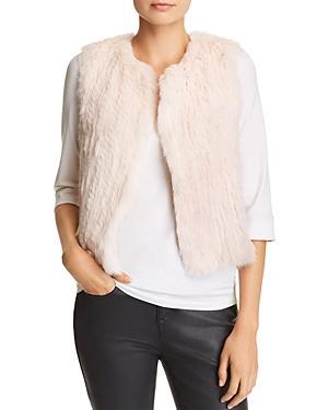 525 America Classic Fur Vest In Blush