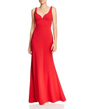 Aqua Scuba Crepe Gown - 100% Exclusive In Red