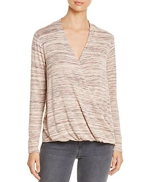 Cupio Crossover-v Top In Pink Marled