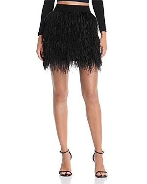 Aqua Luxe Capsule Ostrich Feather Skirt - 100% Exclusive In Black