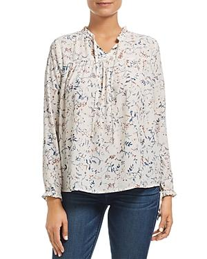 Finn & Grace Floral Ruffle-trimmed Top - 100% Exclusive In Ivory Floral