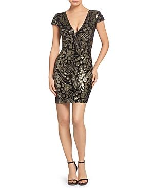 Dress The Population Dress - 100% Exclusive The Population Zoe Sequined Mini Dress - 100% Exclusive In Black/gold