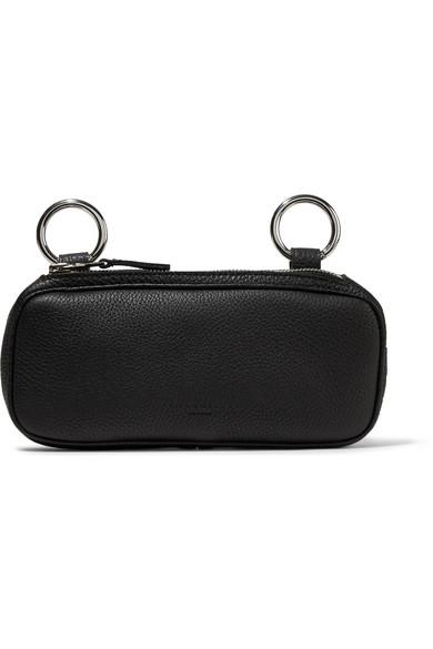 Simon Miller Long Pop Textured-leather Pouch In Black