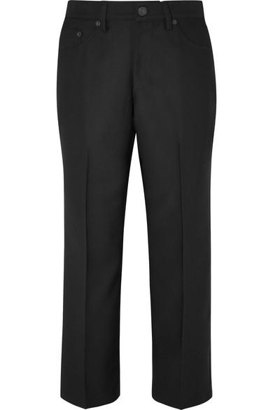Marc Jacobs Cropped Twill Straight-leg Pants In Black