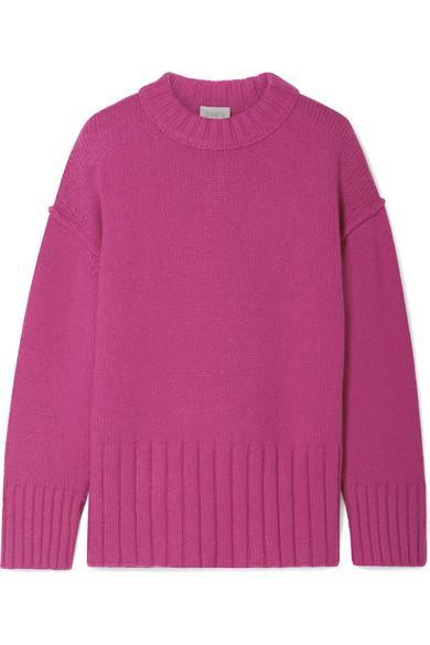 Jason Wu Grey Fritz Oversized Knitted Sweater In Fuchsia