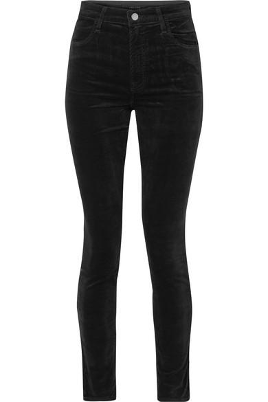 J Brand Maria Cotton-blend Velvet Skinny Pants