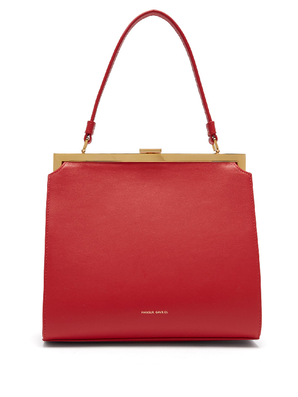 Mansur Gavriel Elegant Leather Bag In Red