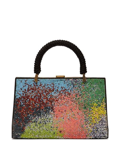Germanier Bead-embellished Leather Bag