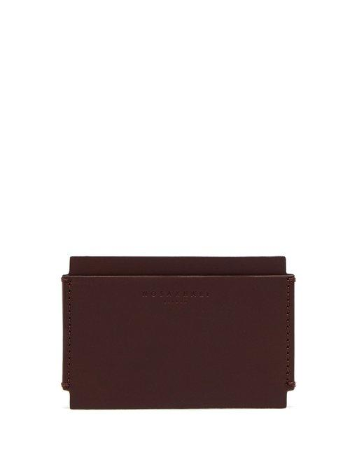 Nosakhari - Addison Leather Cardholder - Mens - Brown