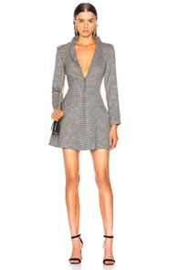 Miaou Margot Dress In Black,plaid,white In Houndstooth