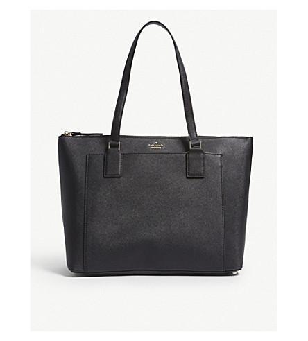 Kate Spade Audrey Leather Shoulder Bag In Black