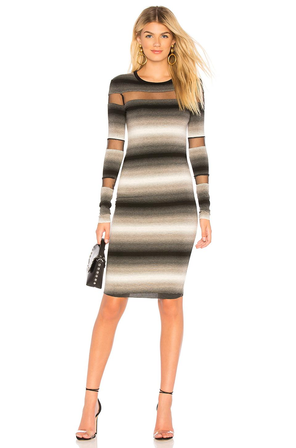 Bailey44 Death Cookie Pegged Dress In Anthracite