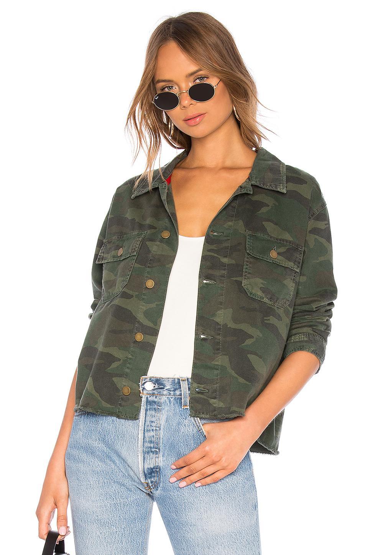 Sundry Double Pocket Shirt Jacket In Army